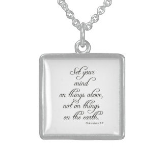 Bible VerseCol 3 2 Set Your Mind Jewelry Necklace