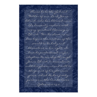 bible verses about family Ephesians 1:3-6 Poster