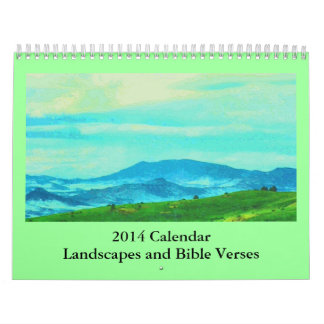 bible verses and landscapes calendar