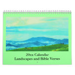bible verses and landscapes wall calendars