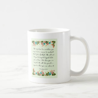 Bible Verses Art - 1 Corinthians 10:13 Coffee Mug