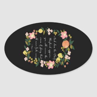 Bible Verses Art - 1 Peter 5:4 Oval Sticker