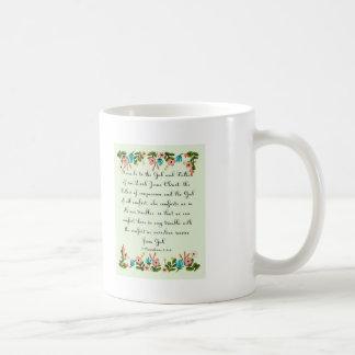 Bible Verses Art - 2 Corinthians 1:3-4 Classic White Coffee Mug