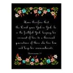 Bible Verses Art - Deuteronomy 7:9 Postcards