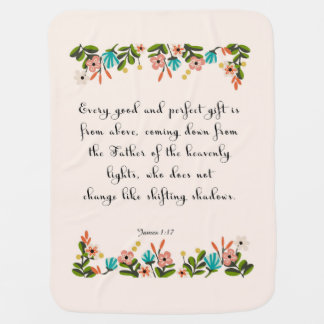 Bible Verses Art - James 1:17 Swaddle Blanket