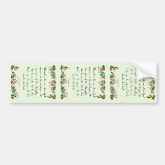 Bible Verses Art - Job 5: 17-18 Bumper Sticker