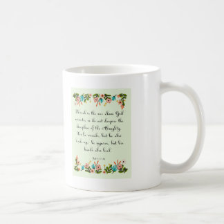 Bible Verses Art - Job 5: 17-18 Coffee Mug