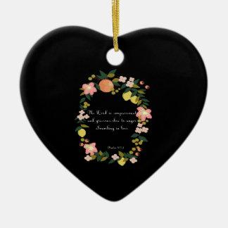 Bible Verses Art - Psalm 163:8 Ceramic Ornament