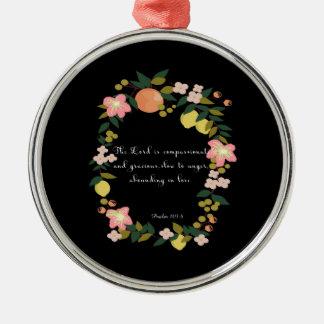 Bible Verses Art - Psalm 163:8 Metal Ornament