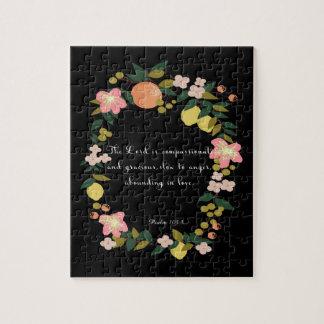Bible Verses Art - Psalm 163:8 Puzzle
