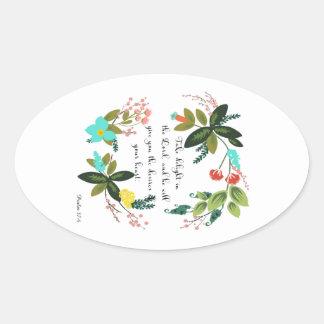 Bible Verses Art - Psalm 37:4 Stickers