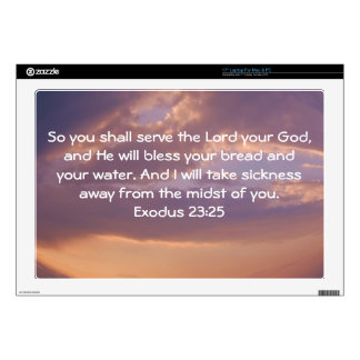 Bible Verses Healing Scripture Quote Exodus 23:25 Skin For Laptop