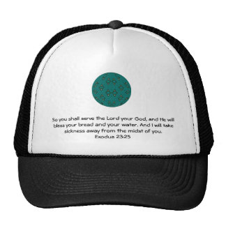 Bible Verses Healing Scripture Quote Exodus 23:25 Trucker Hat