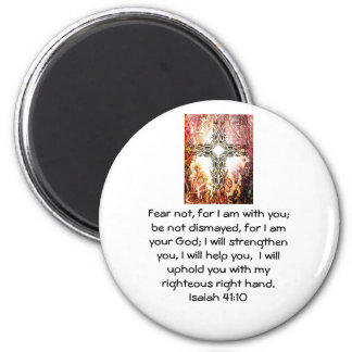 Bible Verses Inspirational Quote Isaiah 41:10 2 Inch Round Magnet