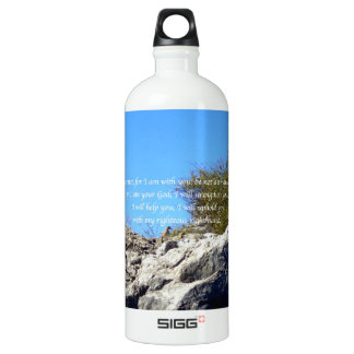 Bible Verses Inspirational Quote Isaiah 41:10 Aluminum Water Bottle