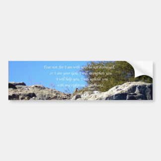 Bible Verses Inspirational Quote Isaiah 41:10 Bumper Sticker