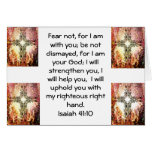 Bible Verses Inspirational Quote Isaiah 41:10 Greeting Cards
