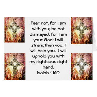 Bible Verses Inspirational Quote Isaiah 41:10 Card