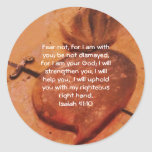Bible Verses Inspirational Quote Isaiah 41:10 Classic Round Sticker