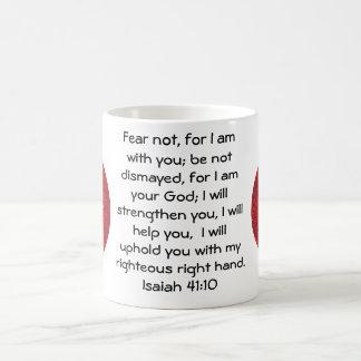 Bible Verses Inspirational Quote Isaiah 41:10 Coffee Mug