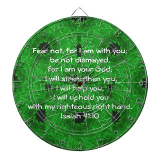 Bible Verses Inspirational Quote Isaiah 41:10 Dartboards
