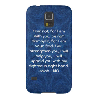 Bible Verses Inspirational Quote Isaiah 41:10 Galaxy S5 Case