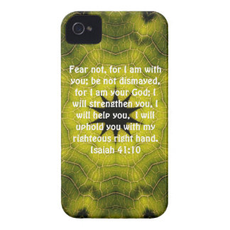 Bible Verses Inspirational Quote Isaiah 41:10 iPhone 4 Case