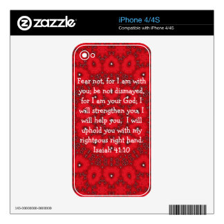 Bible Verses Inspirational Quote Isaiah 41:10 iPhone 4S Decals