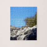 """Bible Verses Inspirational Quote Isaiah 41:10 Jigsaw Puzzle<br><div class=""""desc"""">Bible Verses Inspirational Motivational Christian Quote Isaiah 41:10 &quot;Fear not,  for I am with you; be not dismayed,  for I am your God; I will strengthen you,  I will help you,  I will uphold you with my righteous right hand.&quot;</div>"""