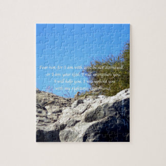 Bible Verses Inspirational Quote Isaiah 41:10 Jigsaw Puzzle