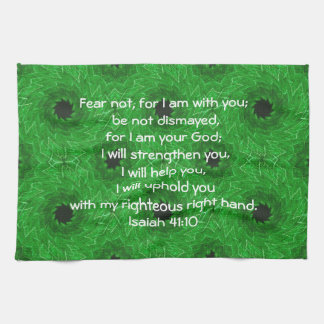 Bible Verses Inspirational Quote Isaiah 41:10 Kitchen Towels