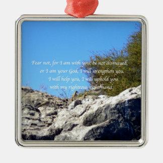 Bible Verses Inspirational Quote Isaiah 41:10 Metal Ornament