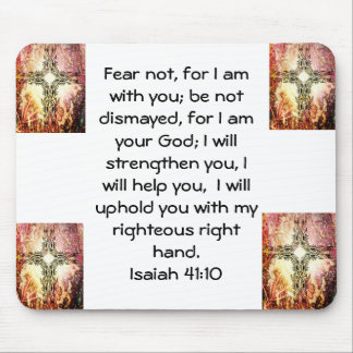 Bible Verses Inspirational Quote Isaiah 41:10 Mouse Pad
