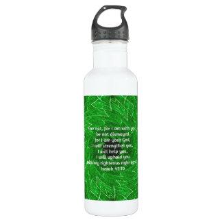 Bible Verses Inspirational Quote Isaiah 41:10 24oz Water Bottle