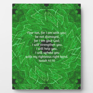 Bible Verses Inspirational Quote Isaiah 41:10 Display Plaques