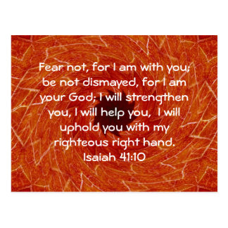 Bible Verses Inspirational Quote Isaiah 41:10 Postcard