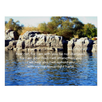 Bible Verses Inspirational Quote Isaiah 41:10 Poster
