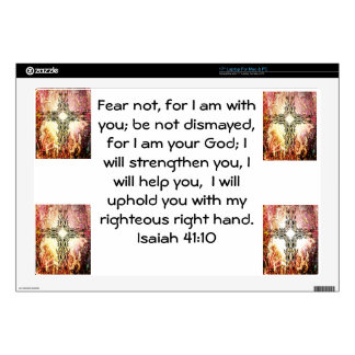 """Bible Verses Inspirational Quote Isaiah 41:10 Skin For 17"""" Laptop"""