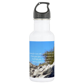 Bible Verses Inspirational Quote Isaiah 41:10 Stainless Steel Water Bottle