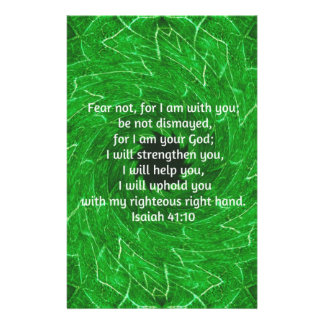 Bible Verses Inspirational Quote Isaiah 41:10 Stationery