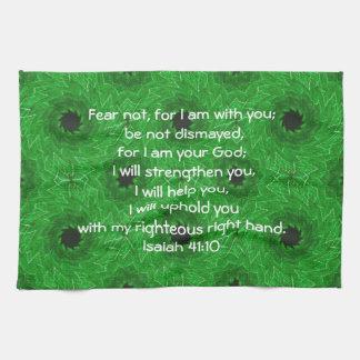 Bible Verses Inspirational Quote Isaiah 41:10 Towel