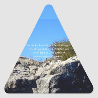 Bible Verses Inspirational Quote Isaiah 41:10 Triangle Sticker
