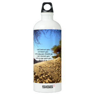 Bible Verses Inspirational Quote Psalm 32:8 Aluminum Water Bottle