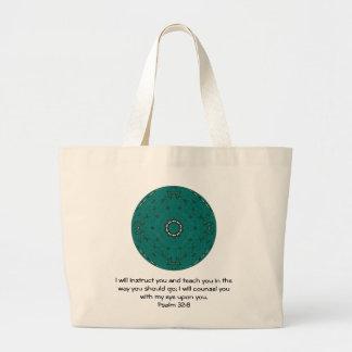 Bible Verses Inspirational Quote Psalm 32:8 Jumbo Tote Bag