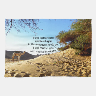 Bible Verses Inspirational Quote Psalm 32:8 Kitchen Towels