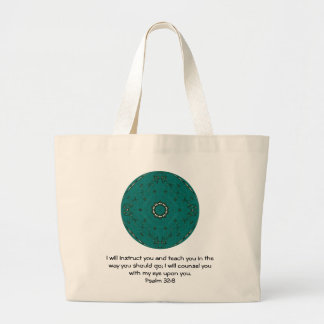 Bible Verses Inspirational Quote Psalm 32:8 Large Tote Bag