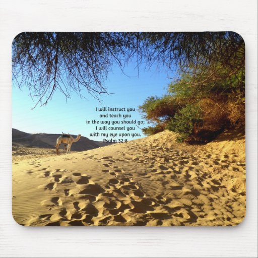 Bible Verses Inspirational Quote Psalm 32:8 Mousepads