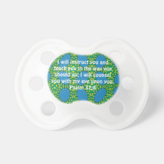 Bible Verses Inspirational Quote Psalm 32:8 Pacifier