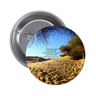 Bible Verses Inspirational Quote Psalm 32:8 Pinback Button