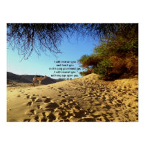 Bible Verses Inspirational Quote Psalm 32:8 Poster